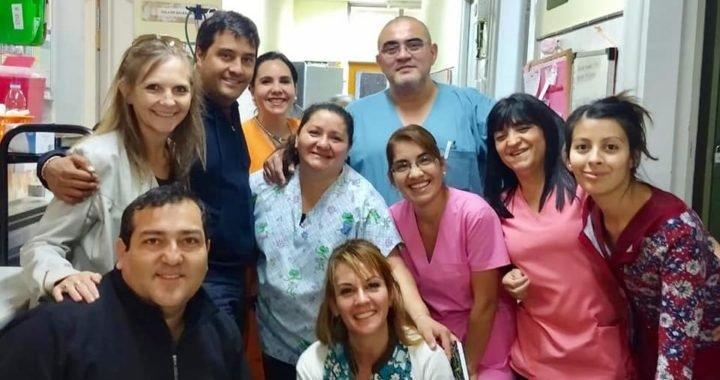Entrega de  elementos  área de  obstetricia y camilleros del Hospital Zapala