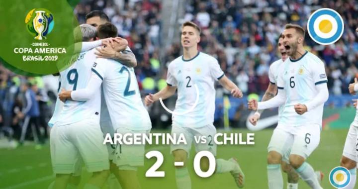 Copa América: Argentina le gana 2-0 a Chile