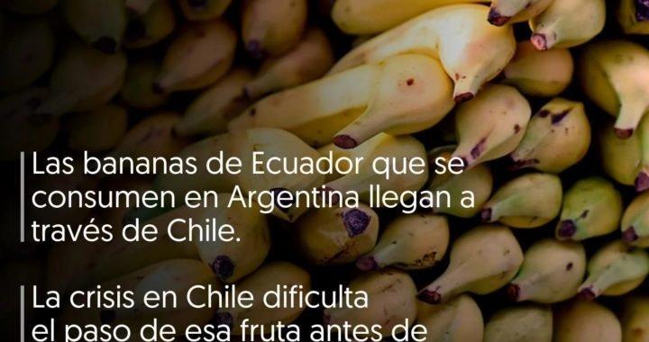 Por qué la crisis política en Chile hizo subir el precio de las bananas en la Argentina