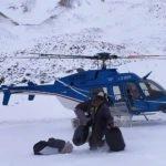Operativo para llegar a crianceros varados en la nieve