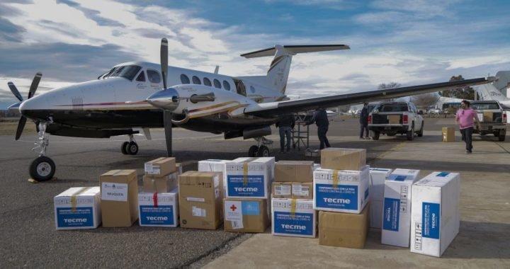 La Provincia recibió 10 respiradores y más de 70 mil insumos enviados por Nación