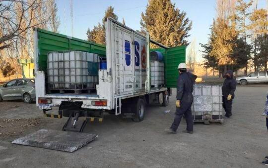 Retiraron más de 700 litros de aceite vegetal usado