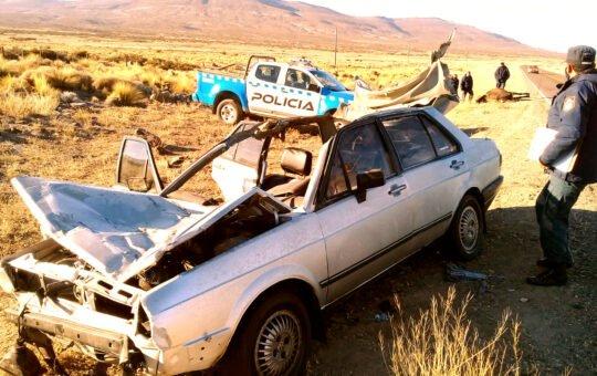 Trágico accidente: Un hombre falleció y dos jóvenes están internados tras impactar contra un equino sobre ruta 40